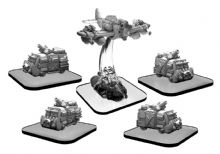 Scavenger Vans and Scrapper  Monsterpocalypse Green Fury Unit (metal)